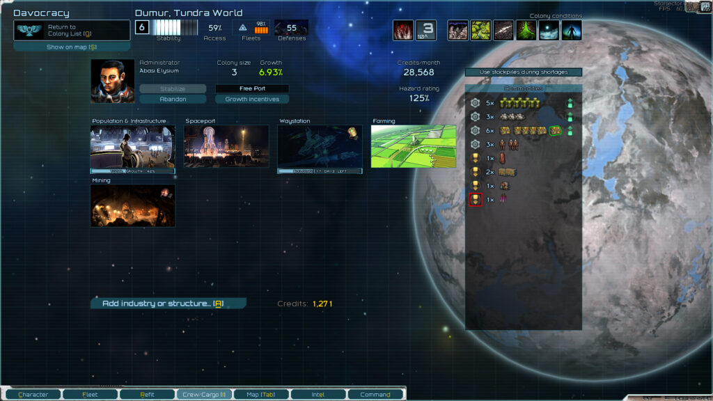 Starsector Planet Screen
