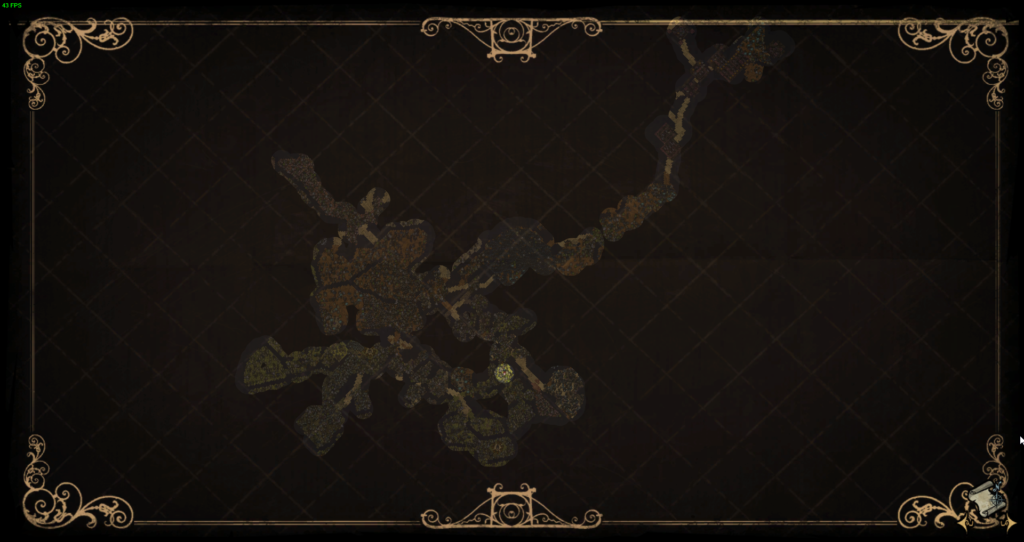 Full Cave Map showing the way to the Ruins in Don't Starve Together